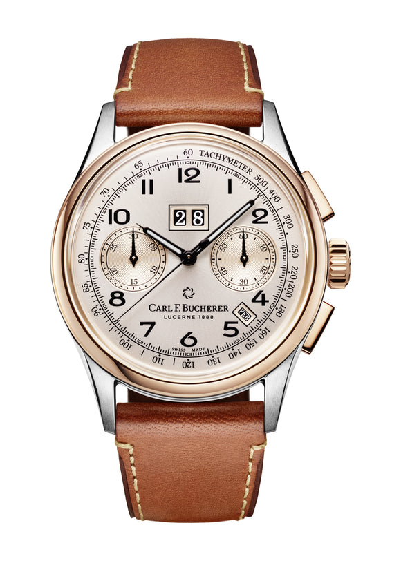 Carl F. Bucherer Heritage BiCompax Annual Steel/18 k Rose Gold 41mm Dial - The Luxury Well