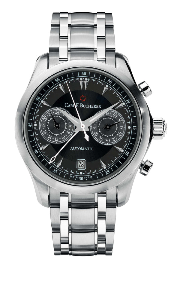 Carl F. Bucherer Manero CentralChrono Steel 42.5mm Black Dial - The Luxury Well