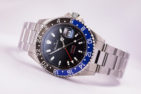 Marcello C. Tridente GMT Blue/Black Batman Automatic - The Luxury Well
