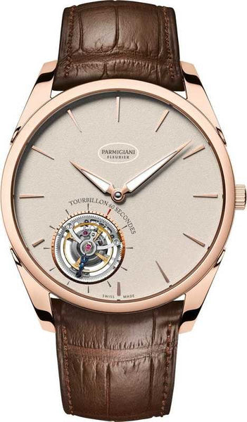 Parmigiani Fleurier Tonda 1950 Tourbillon 40.2mm grained white dial - The Luxury Well