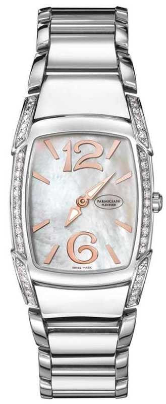 Parmigiani Fleurier Kalpa Piccola Steel Set 29.5 x 24.5 mm mother of pearl dial - The Luxury Well