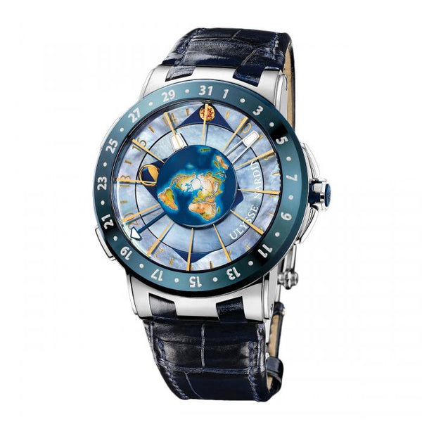 Ulysse Nardin Executive Moonstruck Worldtimer Limited Edition Blue Dial 46mm - The Luxury Well