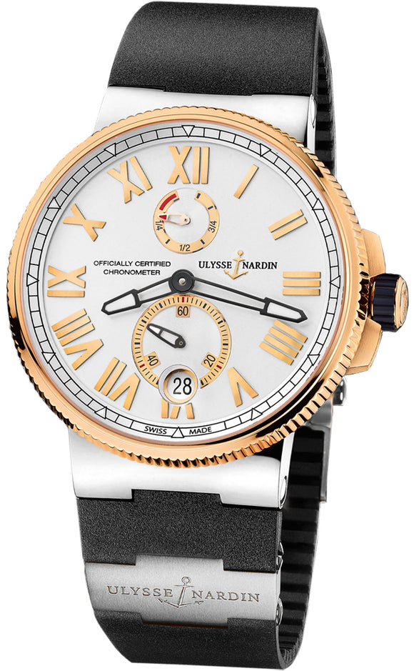 Ulysse Nardin Marine Chronometer Automatic Watch Silver Dial 45mm - The Luxury Well