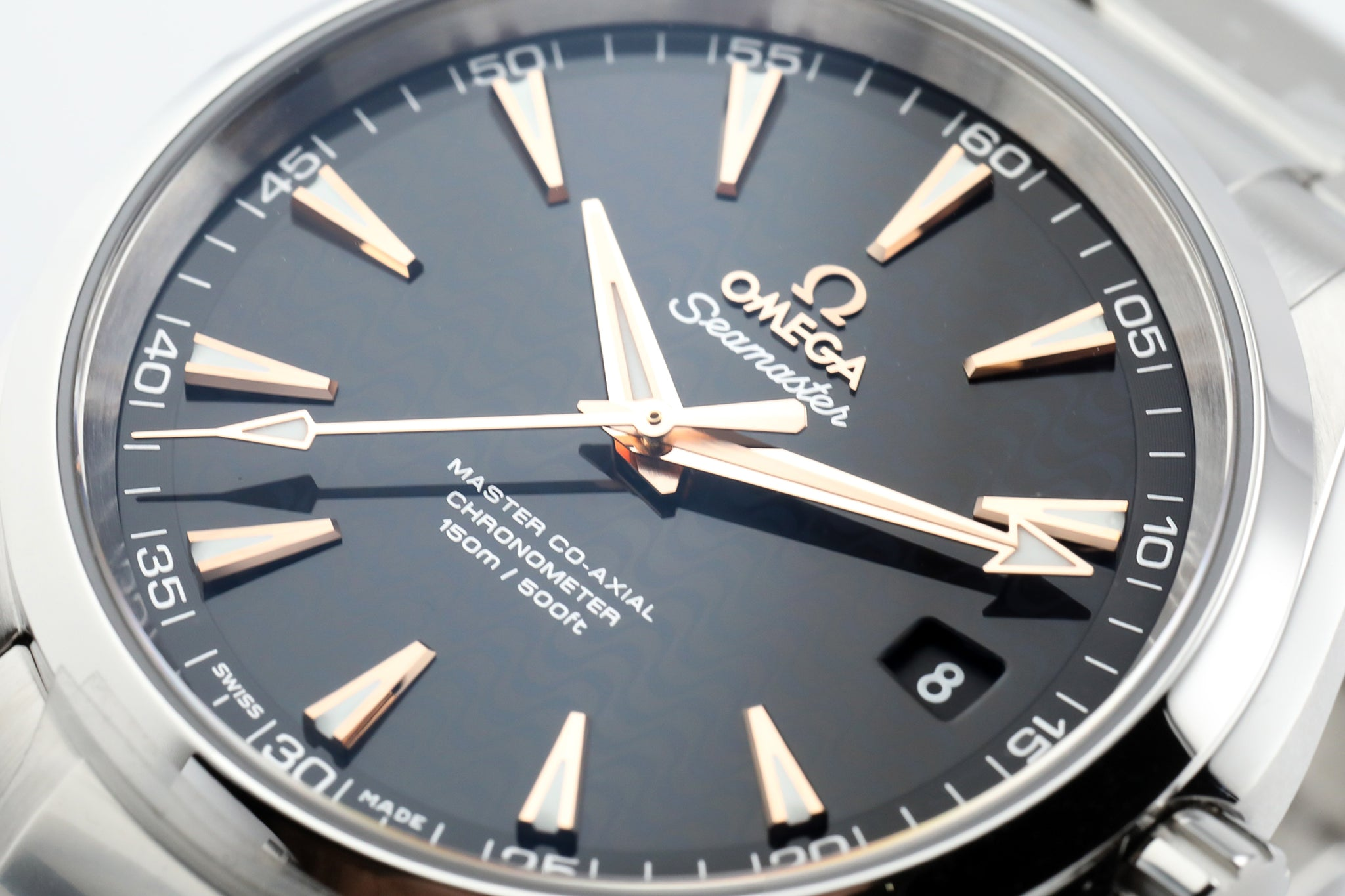 Omega Seamaster Aqua Terra 41.5 mm Black Wave Dial Gold Makers
