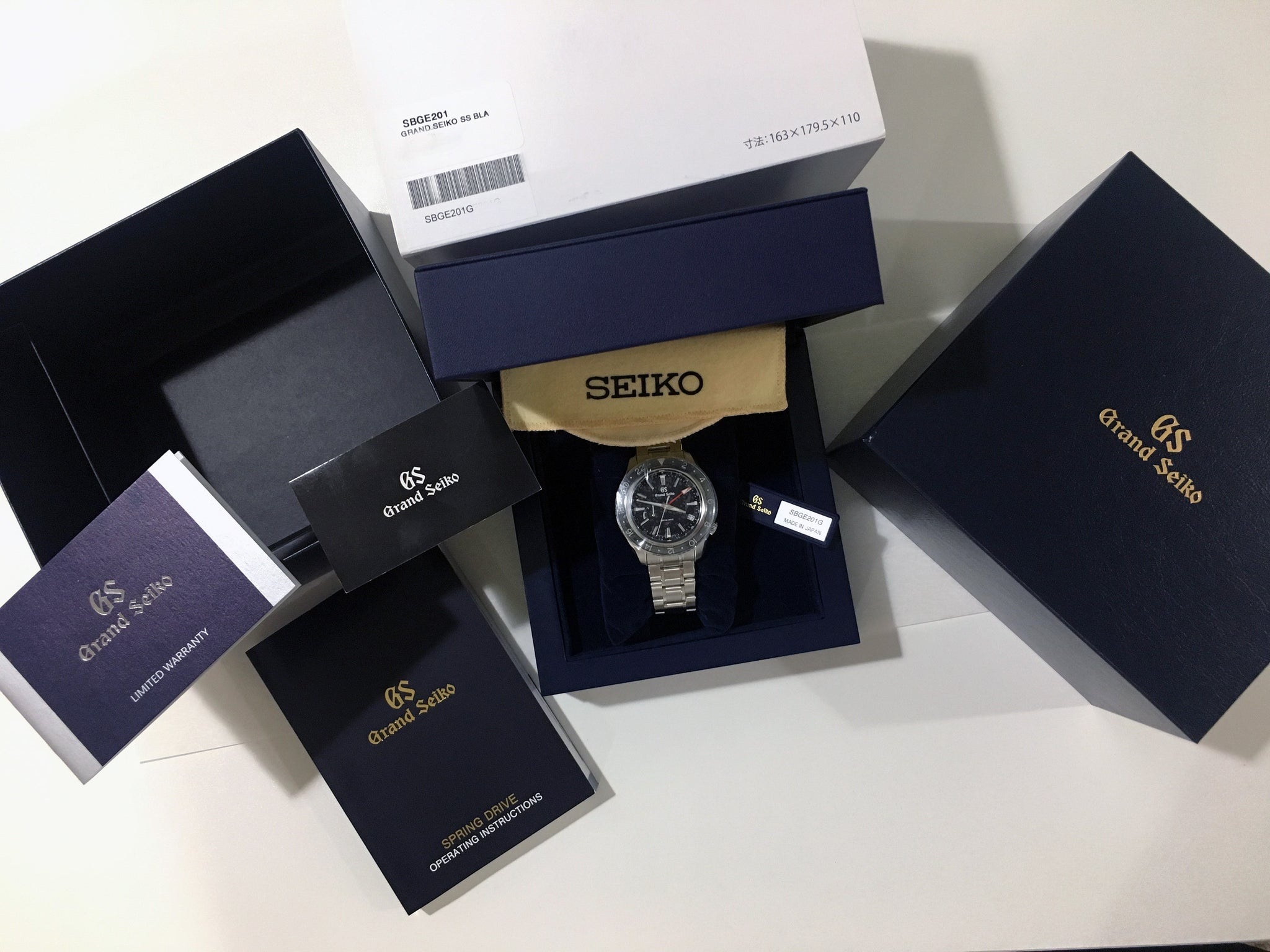 Grand Seiko Spring Drive GMT Black Dial (new Model)