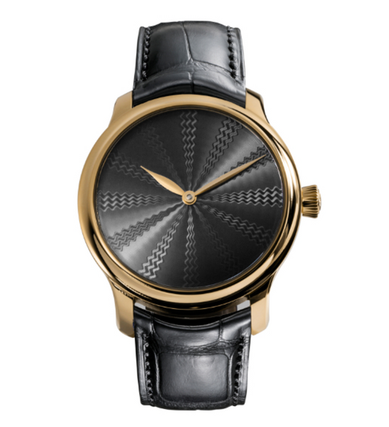 H.Moser & Cie. Endeavour Concept Black Guilloché Rose Gold Limited Edition - The Luxury Well
