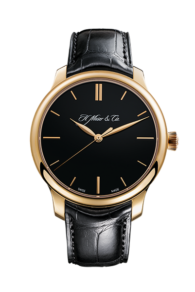 H.Moser & Cie. Endeavour Centre Seconds, Rose Gold, Black Dial - The Luxury Well
