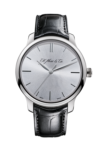 H.Moser & Cie. Endeavour Centre Seconds, White Gold, Silver Dial - The Luxury Well