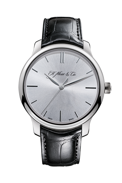 H.Moser & Cie. Endeavour Centre Seconds, White Gold, Argenté Dial - The Luxury Well
