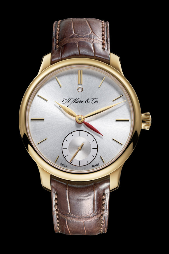 H.Moser & Cie. Endeavour Dual Time Rose Gold, Argenté Dial - The Luxury Well