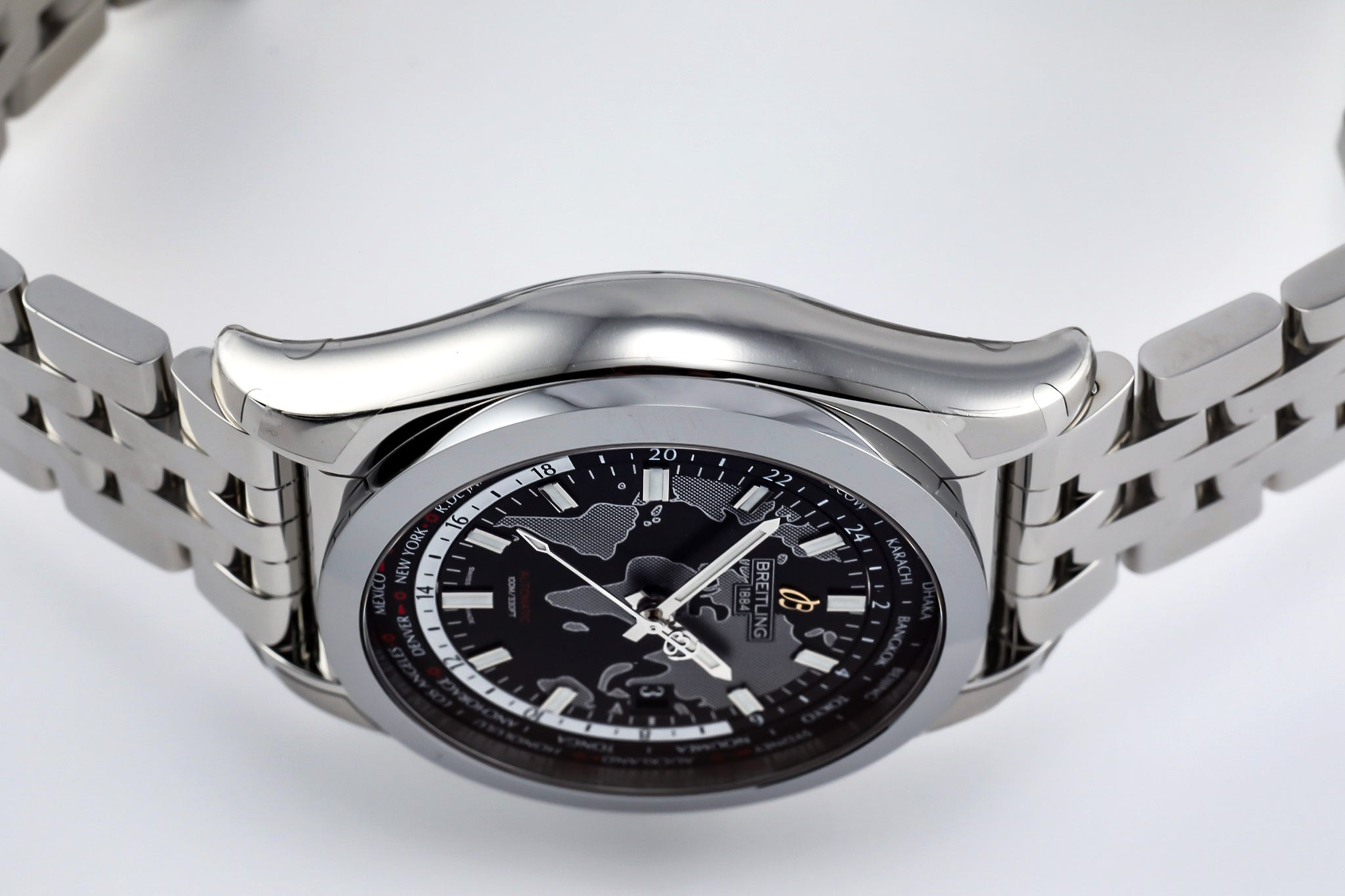 Breitling Galactic Unitime World Time Automatic Black Dial