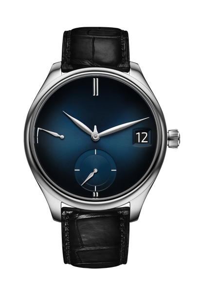 H.Moser & Cie. Endeavour Perpetual Calendar White Gold, Midnight-Blue fumé - The Luxury Well