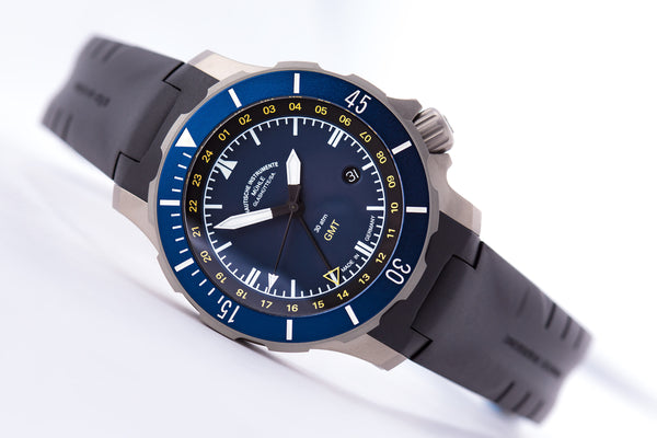 Mühle Glashütte Seebataillon 45mm Blue Dial GMT - The Luxury Well