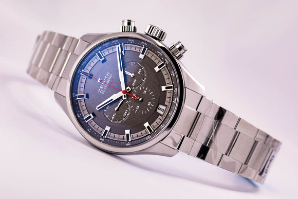 Zenith Chronomaster El Primero Sport Grey Dial Bracelet - The Luxury Well