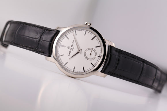 Vacheron Constantin Patrimony Traditionelle Small Seconds White Gold Handwound - The Luxury Well