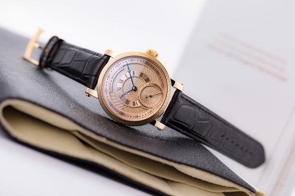 Grieb & Benzinger Boutique Guilloche Skeleton 18kt Rose Gold Piece Unique - The Luxury Well