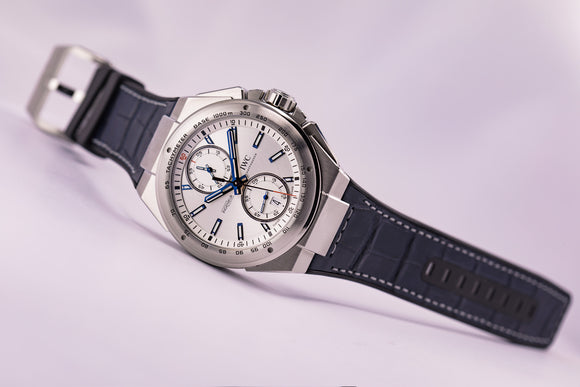 IWC Ingenieur Chronograph Racer Fly-Back Silver Dial - The Luxury Well