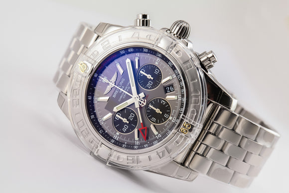 Breitling Chronomat 44 GMT Stainless Steel Grey Dial - The Luxury Well
