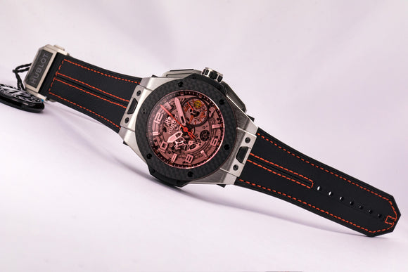 Hublot Big Bang Ferrari Titanium Carbon Chronograph Limited Edition - The Luxury Well