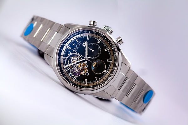 Zenith El Primero Chronomaster Grande Date Stainless Steel Black Dial - The Luxury Well