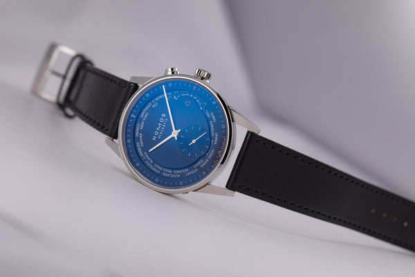 Nomos Zürich World Time Midnight Blue Automatic Ref. 807 - The Luxury Well