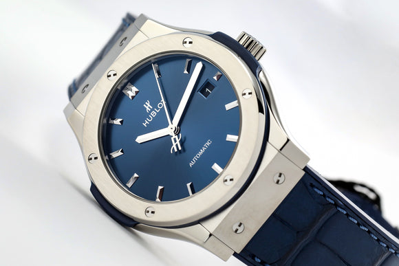 Hublot Classic Fusion Blue Dial Automatic - The Luxury Well