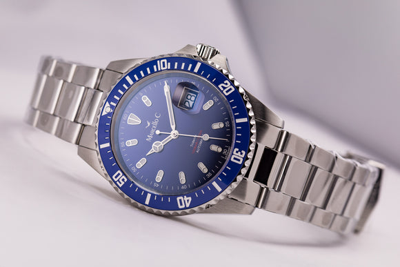 Marcello C. Tridente Blue Ceramic Automatic 1000m/3300ft - The Luxury Well