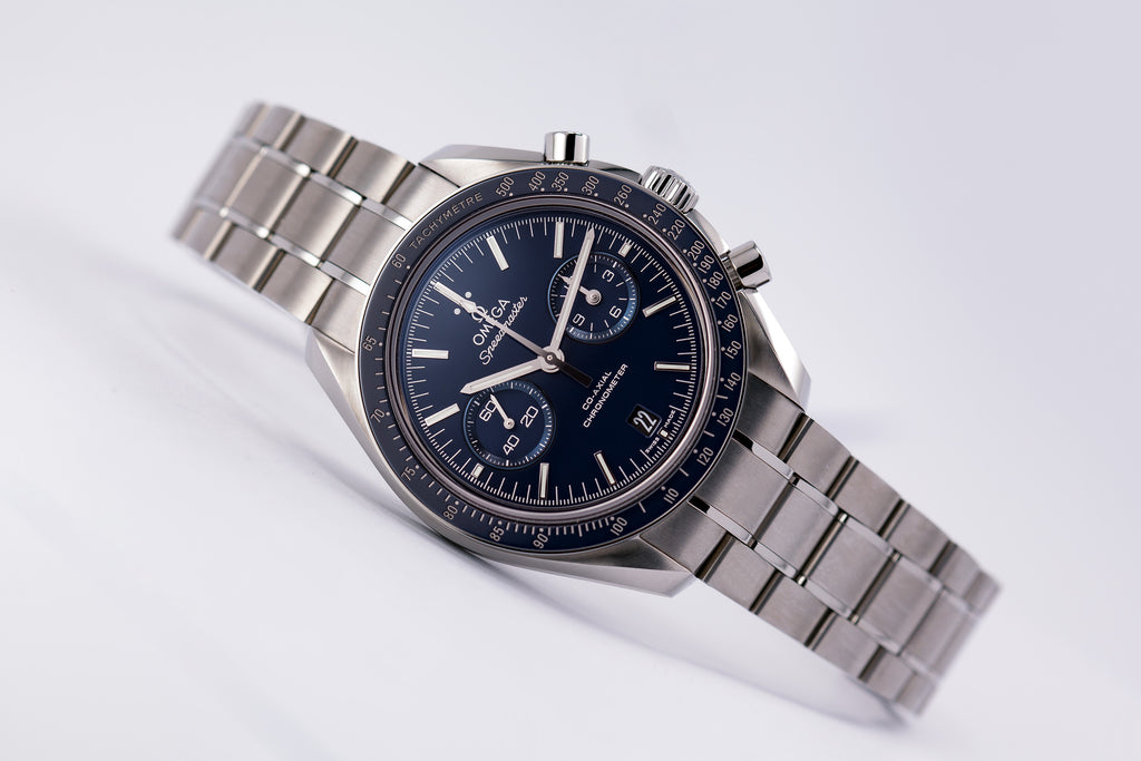 Omega Speedmaster Professional Moon Co-Axial Blue Dial Titanium