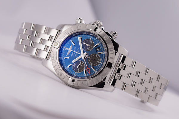 Breitling Chronomat 44 GMT Blue Dial Automatic In-House - The Luxury Well