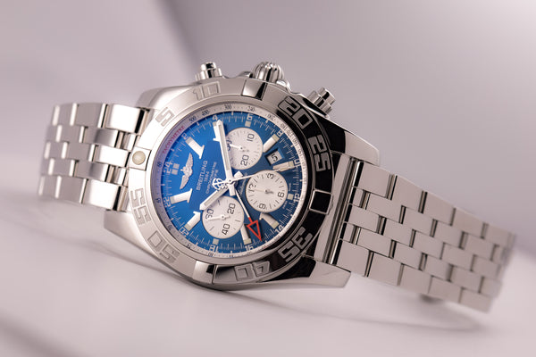 Breitling Chronomat GMT Blue Dial Automatic In-House 47 Large Size - The Luxury Well