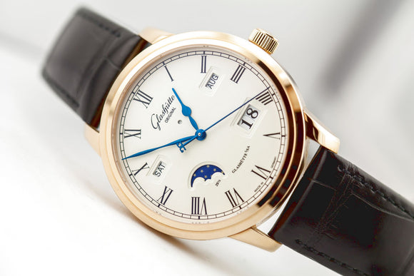 Glashütte Original Senator Perpetual Calendar 18kt Rose Gold - The Luxury Well