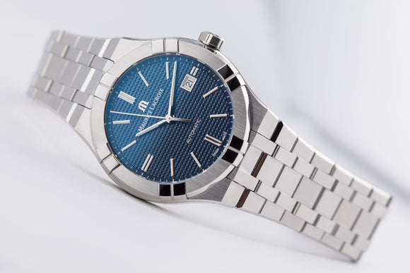 Maurice Lacroix AIKON Automatic Steel/Steel Blue - The Luxury Well