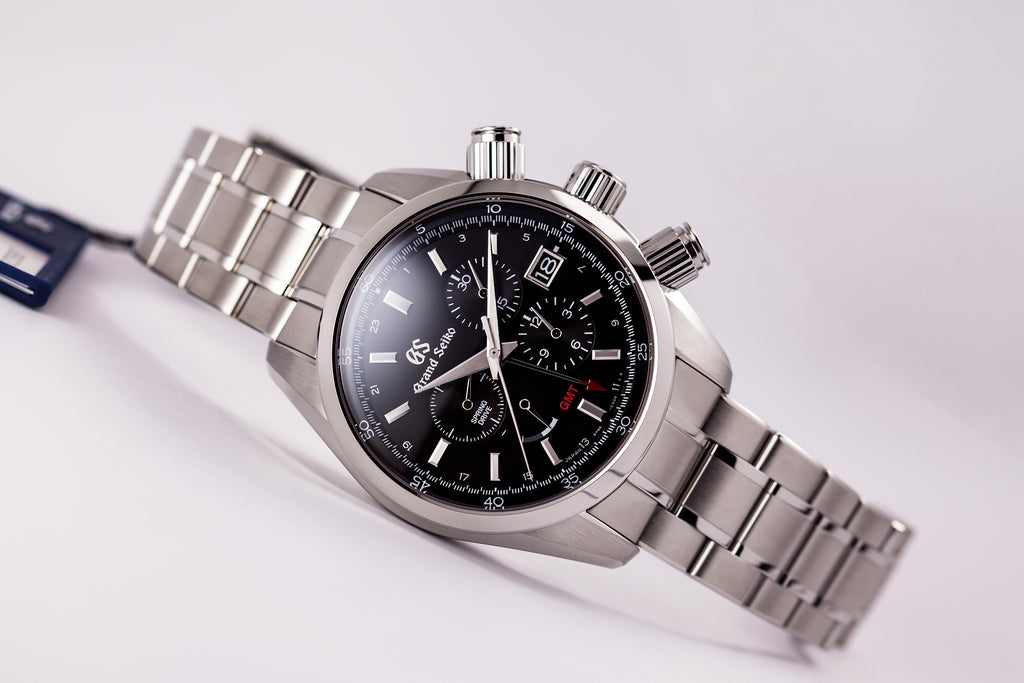 Grand Seiko Spring Drive Chronograph GMT Black Dial (New Model)