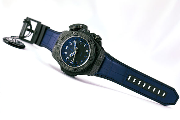 Hublot Big Bang King Power Oceanographic Carbon Blue Ltd. Edition - The Luxury Well