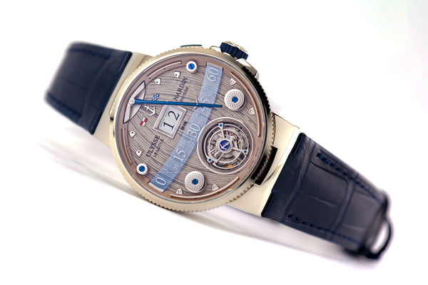 Ulysse Nardin Limited Edition Marine Grand Deck Tourbillon White Gold - The Luxury Well