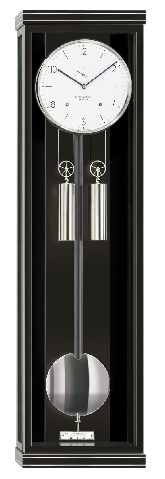 Erwin Sattler Classica S100M Modern Precision Pendulum Clock with chime - The Luxury Well