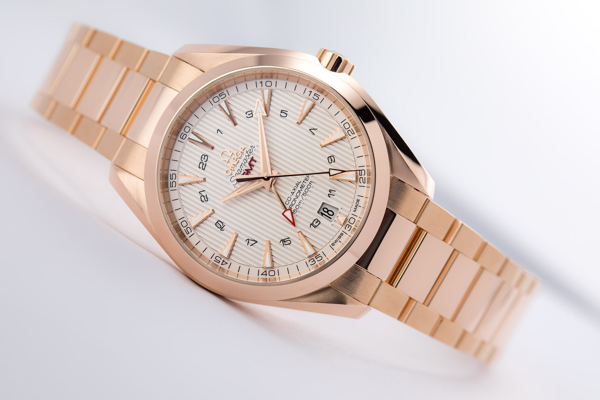 Omega Aqua Terra Co-Axial Red Gold GMT