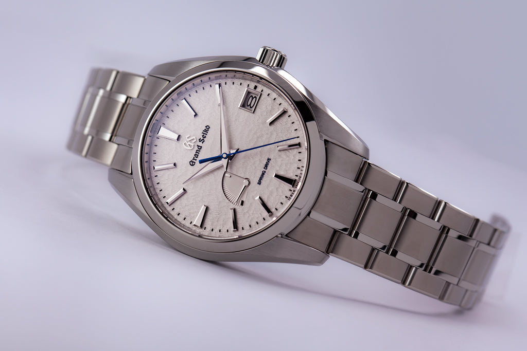 "Grand Seiko ""Snow Flake"" Spring Drive Titanium White Dial (New Model)"
