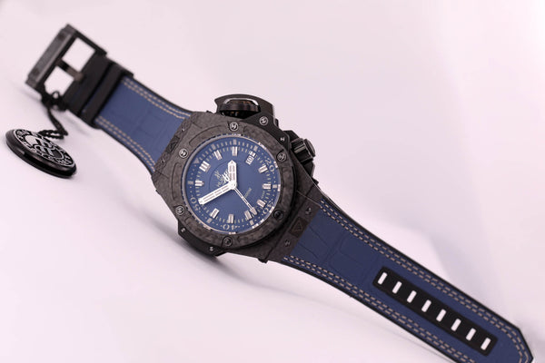 Hublot Big Bang King Power Oceanographic Carbon Blue Dial - The Luxury Well