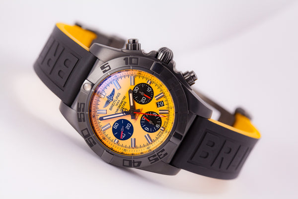 Breitling Chronomat 44 Blacksteel (Yellow) - The Luxury Well
