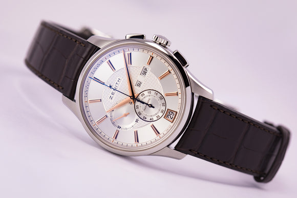 Zenith El Primero Winsor Annual Calendar Chronograph Silver - The Luxury Well