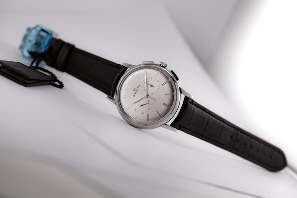 Zenith Elite Chronograph Classic Silver Dial - The Luxury Well