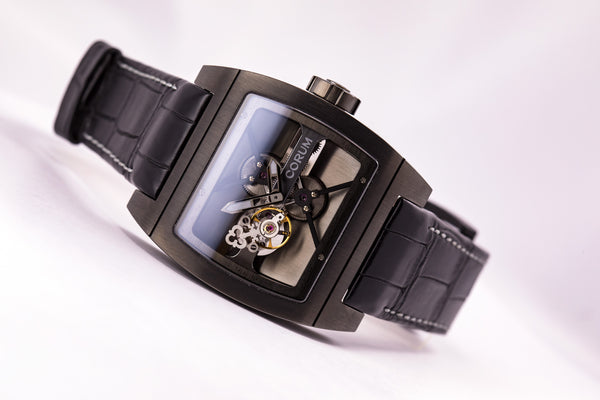 Corum Ti-Bridge Tourbillon Limited Edition 1X/50 Black Titanium - The Luxury Well