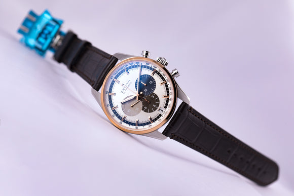 Zenith Chronomaster El Primero 42 18kt Two-Tone Gold/Steel Silver - The Luxury Well