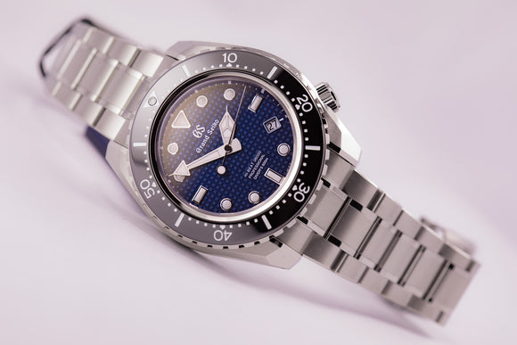 Grand Seiko Hi-Beat Professional Diver Blue Dial Titanium Limited Edition - The Luxury Well