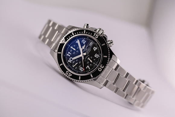 Breitling Superocean Chronograph Black Dial - The Luxury Well