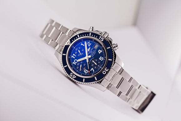 Breitling Superocean Chronograph Blue Dial (Independence Day Special) - The Luxury Well