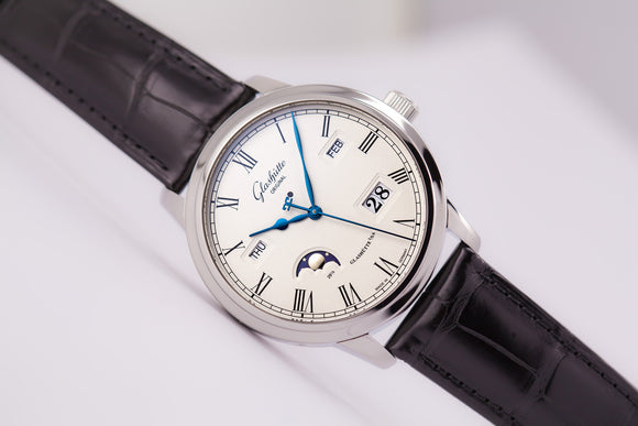 Glashütte Original Senator Perpetual Calendar in Stainless Steel Silver Dial - The Luxury Well