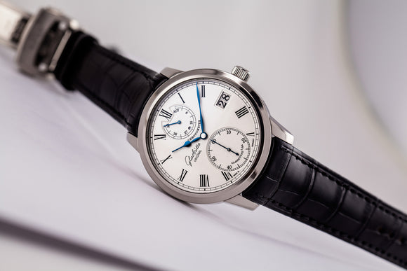 Glashütte Original Senator Chronometer 18kt White Gold Ref. 58-01-01-04-04 - The Luxury Well