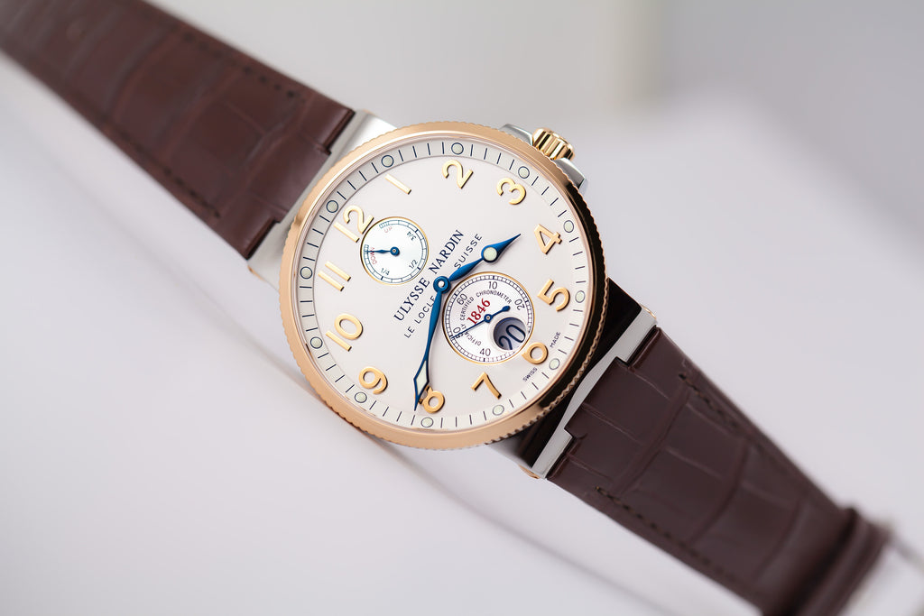 Ulysse Nardin Maxi Marine Chronometer two-tone 18kt gold and steel silver Ref. 265-66/60
